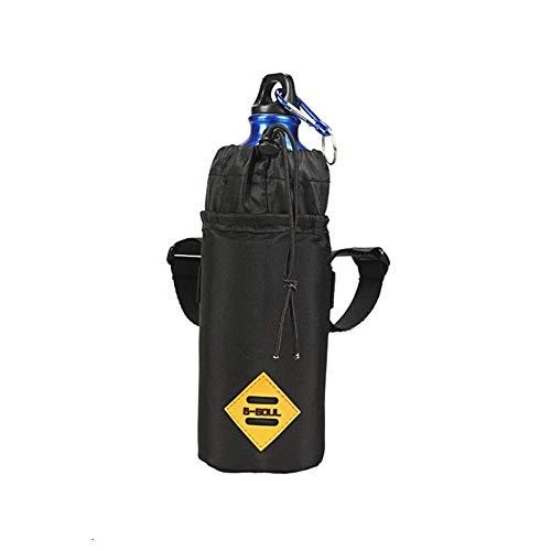 XPOXx Portable Multifunctional Bicycle Handlebar Vertical Insulated Bag, Black Waterproof Travel Mobile Phone Food Snacks Water Storage Mountain Bike Riding Storage Bag (Color : Black, Size : M)