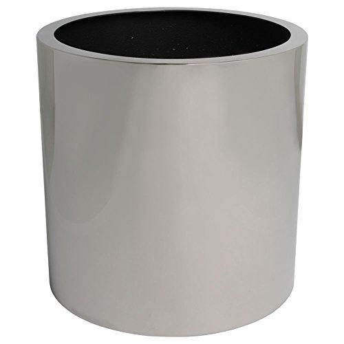 hydroflora 61412035 Vaso Value Line Cycle Diametro 40, Altezza 40 cm, Acciaio Inossidabile Lucido V2A