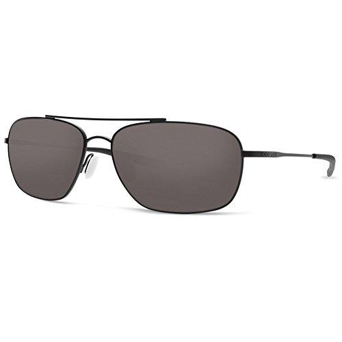 Costa Del Mar Men's Canaveral Sunglasses, Satin Black Frame/Gray 580Glass-580G, 59 mm -  Costa del Mar Sunglasses, CAN101OGGLP