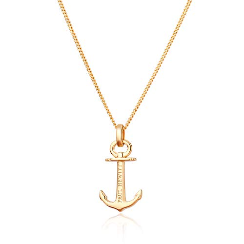 PAUL HEWITT Anker Halskette Damen Anchor Spirit Plated Gold aus 925 Sterling Silber - vergoldet