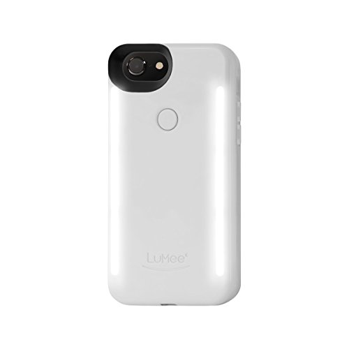 LuMee LD-IP7PLUS-WHTGLS-NA Duo Handyhülle für Apple iPhone 6, 6S und 7 Plus glänzend weiß