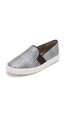 Vince Women's Blair Slip On Sneaker, Black/White/Taupe, 7.5 Medium US
