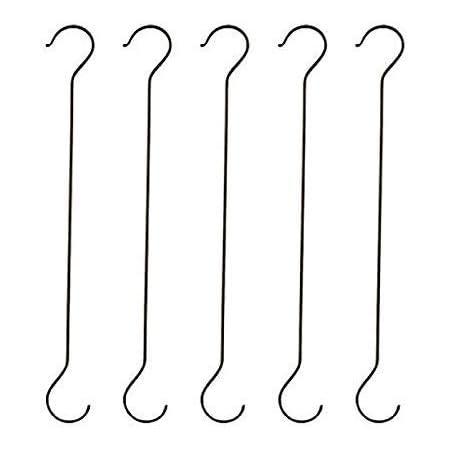 COIR GARDEN Galvanized Metal Pot Extension Hook - 40 cm, Pack Of 5