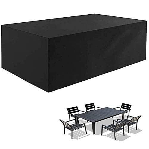 Funda para Muebles De Jardin Rectangular, Funda para Mesa De Jardin Impermeable, ubierta De Mesa Al Aire Libre, Fundas De Muebles para Sofa De Exteriores, Patio
