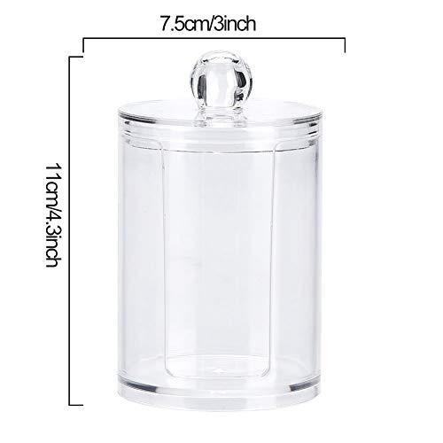 Tmtopコットン収納ボックスコットン入れメイクケースアクリル製透明化粧品ボックス綿棒入れコットン収納スポンジ収納小物入れ化粧収納ケース収納ケース蓋付きコンパクト便利