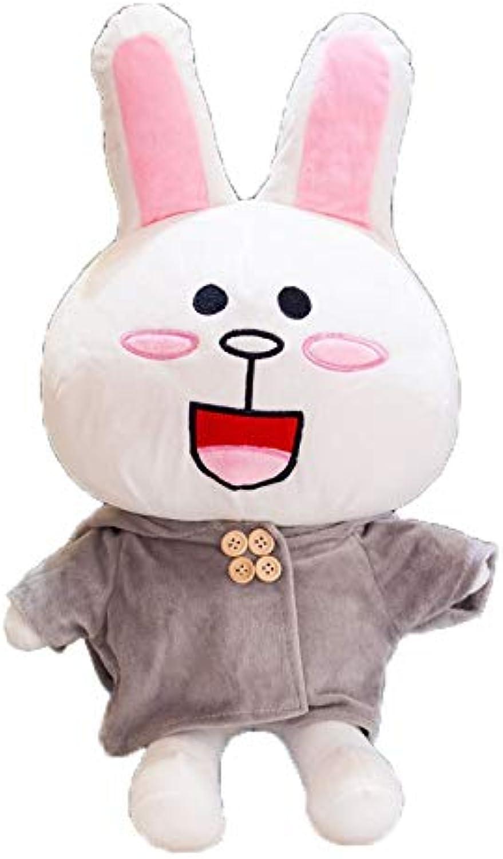 hermoso GJF Gran Juguete de Peluche Peluche Peluche Almohada Oso Oso marrón Canni Conejo agarrar máquina muñeca Regalo de cumpleaños (b3) (Tamaño   70 cm)