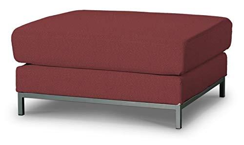 Dekoria Kramfors Hockerbezug Sofahusse passend für IKEA Modell Kramfors Bordeaux