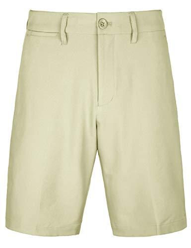 Bakery Herren Golf-Shorts, Khaki, Stretch, leicht, entspannte Passform, kariert, schnelltrocknend, Twill-Shorts - Braun - 54 DE