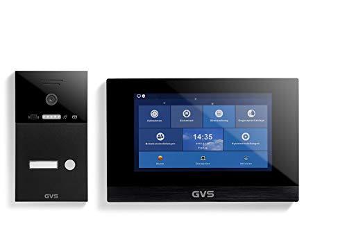 GVS AVS4263A - Videoportero IP con monitor de 10 pulgadas (ideal para casa y vivienda, IP65, timbre de puerta con cámara HD de 120°, control por aplicación, RFID)
