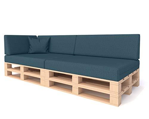 Pillows24 Palettenkissen 6-teiliges Set   Palettenauflage Polster für Europaletten   Hochwertige Palettenpolster   Palettensofa Indoor & Outdoor   Erhältlich Made in EU   Türkis