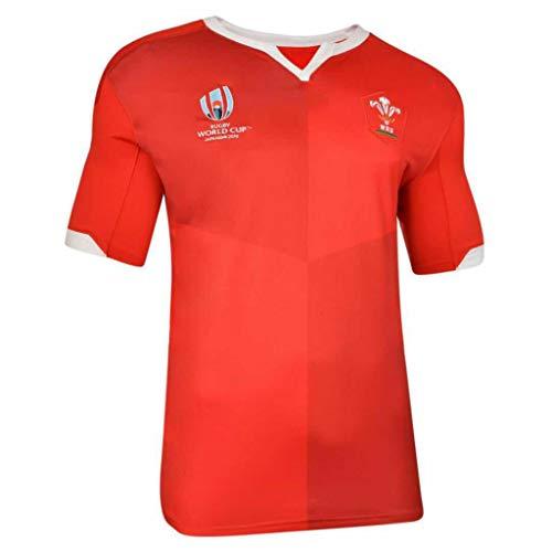 CRBsports Team Wales, Rugby-Trikot, Weltmeisterschaft, Home Edition, Neue Stoff Bestickt, Swag Sportswear (Rot, L)