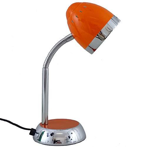 Schreibtischleuchte Tom in Orange - Tönen verstellbar mit Flexarm E14 max. 40W Tischleuchte Tischlampe