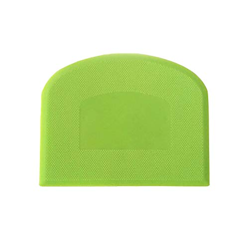 IMhope 1 Piece Dough Scraper Plastic Pastry Cutter Bowl Scrapers Dough Bread Pizza Cutters for Cake Decorating Baking - Green