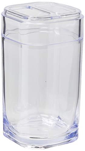 Porta Escova Splash 6,5 x 6,5 x 12,7 cm, Cristal, Coza