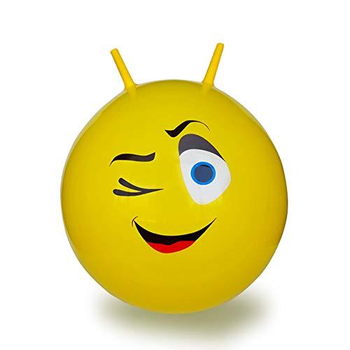 Jamara 460459 Hüpfball Eye - bis 50 kg, fördert den Gleichgewichtssinn und die motorischen Fähigkeiten, robust und widerstandsfähig, pflegeleicht, gelb