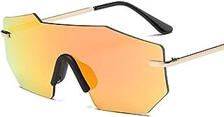DEYONGDPTYJ Goodr Sunglasses, Fashion Female Sunglasses Ladies Retro Rimless Mirror Rimless Driving Glasses (Color : Orange)