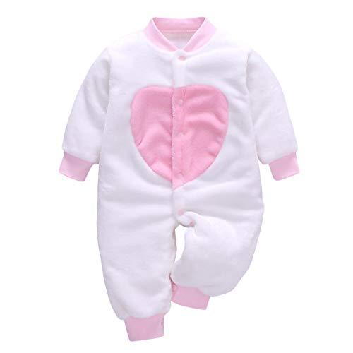 DEBAIJIA Bebé Mameluco 0-2T Recién Nacido Peleles Infantil Monos Niños Pijama Niña Niño Ropa de Dormir Camisones Unisexo Franela (Blanco-73)