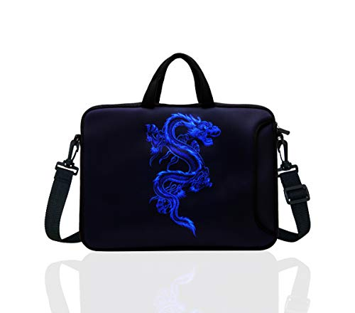 TAIDY 12.5-Inch Laptop Shoulder Bag Sleeve Case with Handle for 11.6' 12' 12.2' 12.5' Netbook/MacBook Air Pro (Blue Dragon)