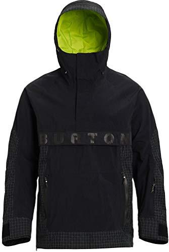 Burton Men's Men's Frostner Anorak, True Black/True Black Ripstop, Large