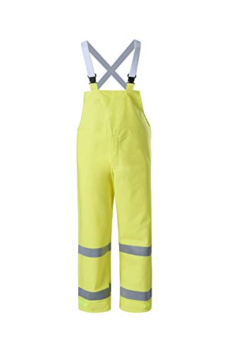 Brite Safety Style 5213 FR Safety Raingear - Hi Vis Bib Overalls for Man and Woman, Rain Gear For Men Waterproof, Flame Resistant, ANSI 107 Class E Compliant (Small, Hi Vis Yellow)