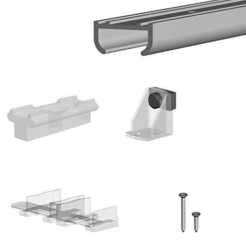 Schiebetürbeschlag SLID'UP 100, Laufschiene 100 cm, 2 Türen je 9 kg, leichte Türen, Küchenschränke, Unterschränke,