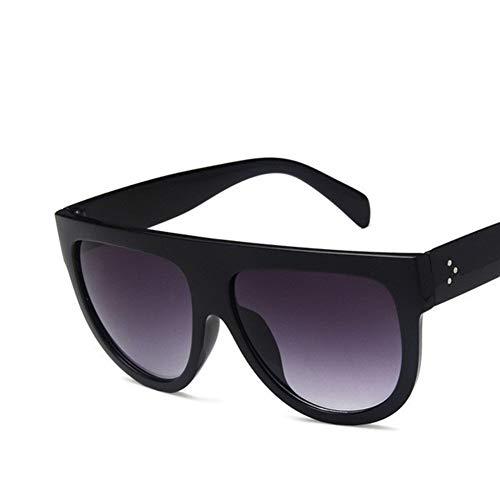 PPLAX Súper Cuadro Redondo del círculo de los vidrios del Ojo de Gato de Las Mujeres Gafas de Sol Completo Gafas polarizadas Gafas de Sol UV400 Gafas de Controladores (Color : Silver)