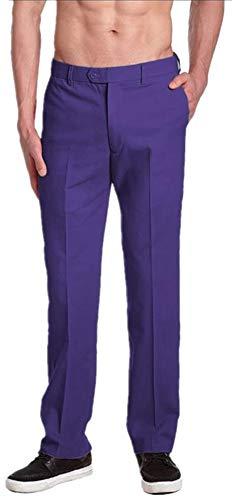 LIBODU Men's Slim Fit Suit Trousers Casual Wedding...
