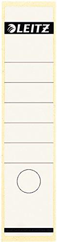 Leitz 16400001Rechteck weiß 10Stück–Selbstklebende Etikette (weiß, rechteck, Universal, Rolle, 61mm, 285mm)