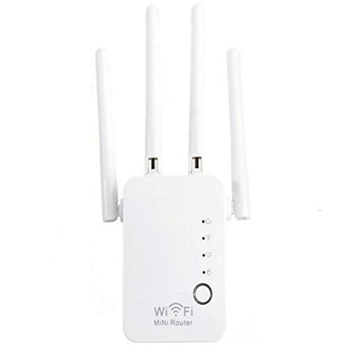 YT Repetidor WiFi Extensor de Rango WiFi 2,4 GHz 300Mbps, Amplificador Extensor WiFi 5 en 1 con Modo de Trabajo Ap/Repetidor/Enrutador/Puente/Cliente y Función WPS, Fácil de Configurar,Blanco