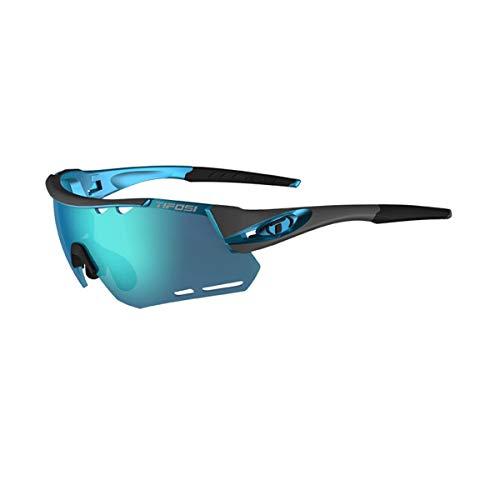 Tifosi Unisex-Sonnenbrille Alliant mit austauschbaren Gläsern, Gunmetal/Clarion Blue, Einheitsgröße