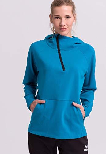 Erima GmbH Essential Sudadera con Capucha Essential, Mujer, Oriental Blue/Colonial Blue, 48