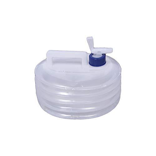 adad Campinggeschirr-Wasserkanister Klappbarer Wasserspeicherbeutel | Teleskopwasserspeicher | 5L10L15L | Mit Wasserhahn | Picknick Camping (Color : Clear, Size : 5L)