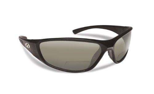 Flying Fisherman Falcon Polarized Sunglasses with AcuTint UV Blocker for Fishing and Outdoor Sports, +1.50, Black-Smoke