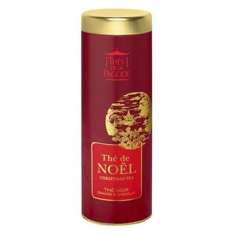Thés de la Pagode - Té negro de Navidad de naranja y chocolate - Edición limitada de Navidad - Caja de 90 gramos - Té de Navidad 90g