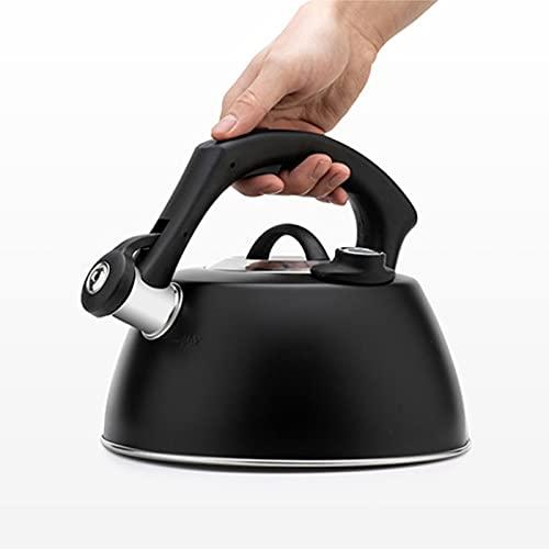 ZRY Pantalla de Temperatura de la Temperatura del Silbato de Acero Inoxidable Pote de café del té del té Adecuado para la Cocina de la Estufa de Gas Cocina de inducción Toda la Estufa Kettle 2.5L