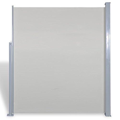 Anself Seitenmarkise Seitenrollo für Terrasse oder Balkon 160 x 300 cm Weiß