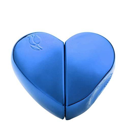 jingxiaopu Pulverizador Botella De Perfume VacíA MultifuncióN Pulverizador Agua Reutilizables Botella De Viaje En Forma De Corazon para LíQuida Perfume Blue