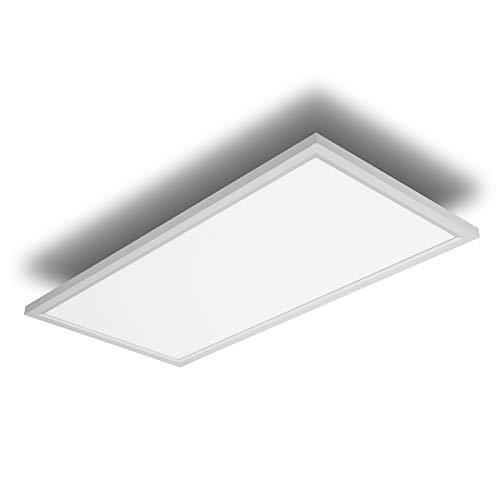 IMPTS Pannello LED piatto, 30 x 60 cm, lampada da soffitto 30 W, 2600 lm, luce bianca calda, per ufficio, cucina, bagno, soggiorno
