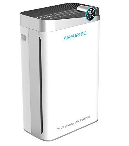 Airpurtec H488 Purificador de Aire Profesional con Filtro HEPA H13 EN1822 | Elevado CADR 488 m3/h | 7 Etapas de purificación + humidificación | Avanzado con Control WiFi y Sensor Calidad de Aire