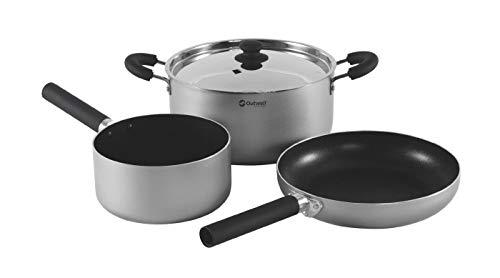Outwell Erwachsene Koch Feast Set L Kochset, Silver, One Size