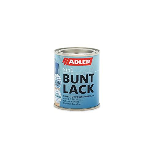 ADLER 5in1 Buntlack für Innen und Außen - 125ml- Wetterfester Lack und Grundierung für Holz, Metall & Kunststoff RAL9005 Tiefschwarz