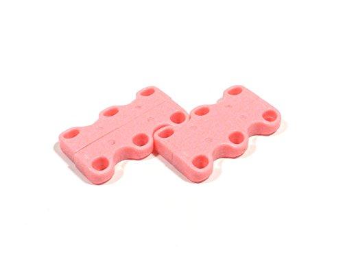 REMA Magnetischer Schnürsenkelverschluß Extra Stark aus Neodym Magneten (1 Paar, Pink)