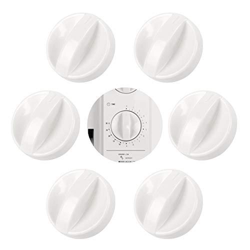 Perillas de Control de Horno 6 Piezas Perilla Universal para Horno Perilla de Ajuste de Interruptor de Plástico para Horno 6mm de Orificio, Rotatorio Perilla para Hornos Estufas Encimera Color