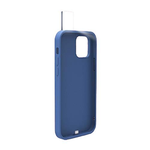 Playpen Funda para iPhone Selfie Ring Flash Case a prueba de golpes Novedad Funda Móvil Elegante Cool y Delgada para Maquillaje Video Tiktok Phone Cover (Color: Azul, Material: Para iPhone 12)