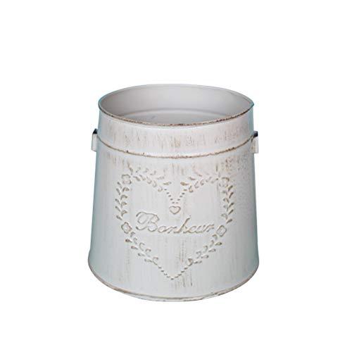 Vosarea 1 Stücke Deko Vase Eimer mit Griff Blumenvase Metall Blumentopf Vintage Pflanztopf für Tischdeko Hochzeit Deko