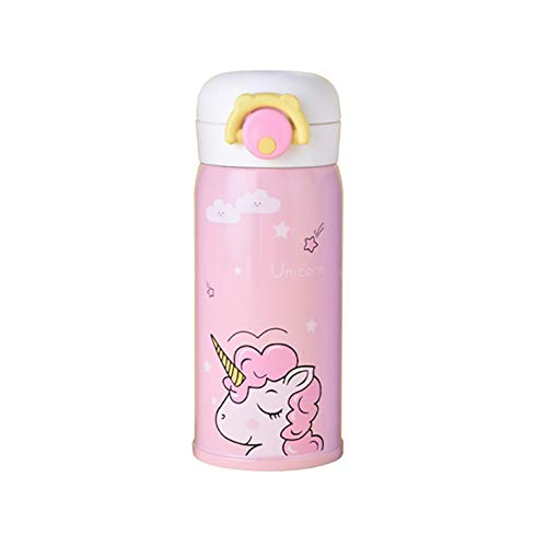 Rocita Isolierbecher Isolierbecher Trinkbecher niedliche Cartoon Isolierbecher Einhorn Isolierbecher Kinder Isolierbecher 350ml pink 1 Stück