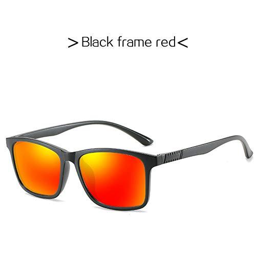 CJJCJJ Quadratische Männer Polarisierte Sonnenbrille Frauen Ultraleichter Rahmen Männlich Angeln Brillenbeschichtung Li