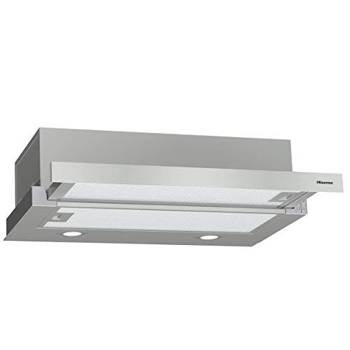 Hisense CH6TL4BX - Campana Telescópica 60 cm, Capacidad de Succión de 450 m³/h, Iluminación LED, Fácil Limpieza y...
