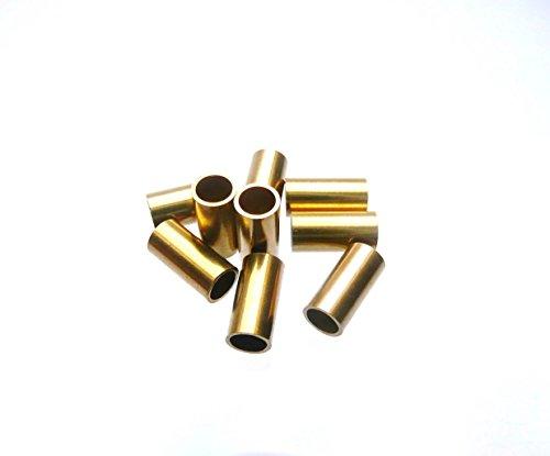 Messinghülsen 8 mm lang / 4 mm ä.Ø x 3,1 mm i.Ø (100 Stück)