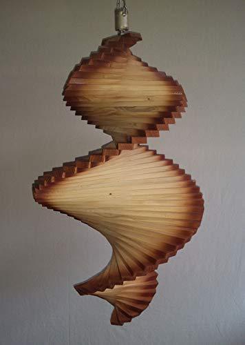 Annas Inselwelt Windspiel aus Holz/Windspirale/Holzspirale - Länge 65 cm - Ränder lasiert